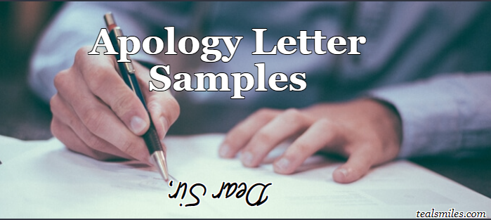 Apology Letter Samples-tealsmile
