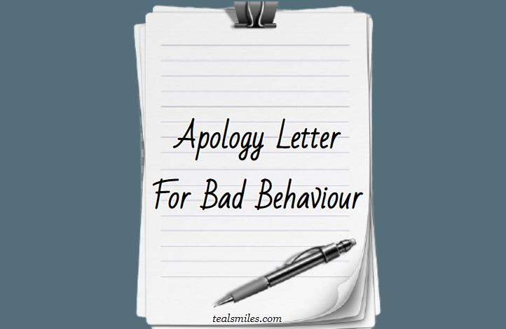 Apology Letter To Boss For Misbehaviour