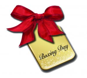 Beautiful Golden Boxing-Day-Tag-Red-Bow-Image