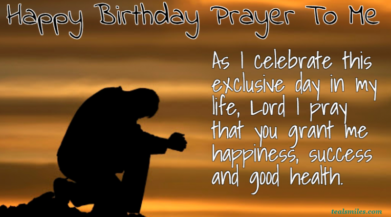 Happy-Birthday Prayer For Myself