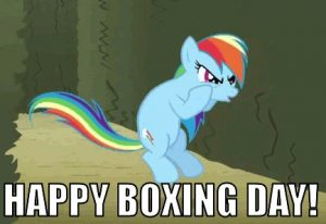 Happy Boxing Day Cartoon Picture