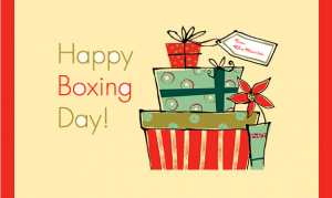 Happy Boxing Day Gifts E-Card