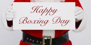Santa Clause Greetings Happy Boxing Day