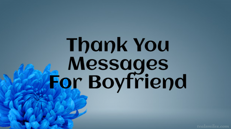 Thank You Messages to my Boyfriend