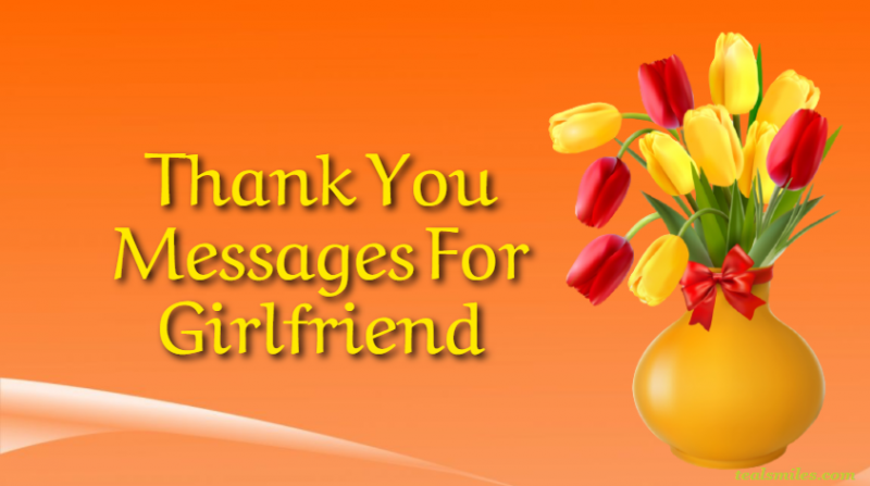 Appreciation Thank You romantic Messages For Girlfriend