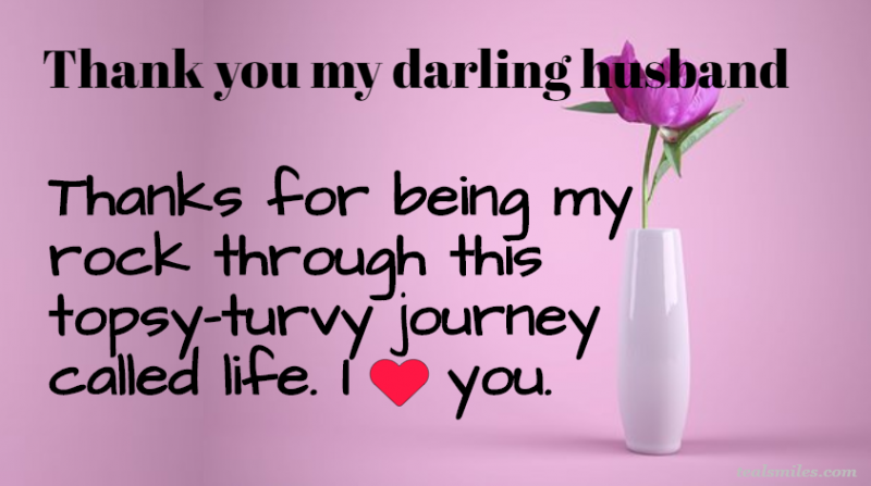 Appreciation Thank You Messages For Husband