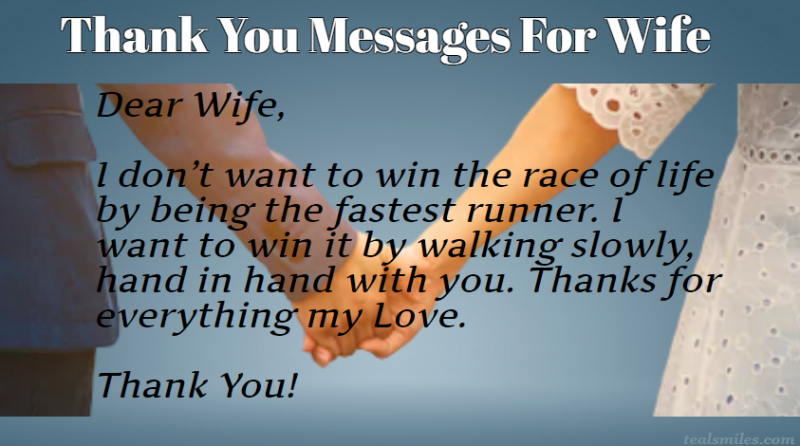 Appreciation Thank You sweet Messages For Wife