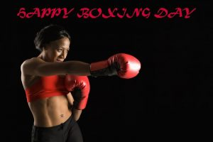 Woman Wishes You Happy Boxing Day
