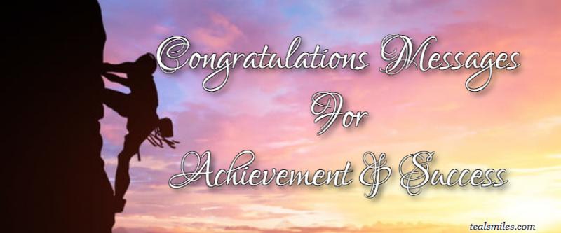 Congratulations Messages For Achievement And Success