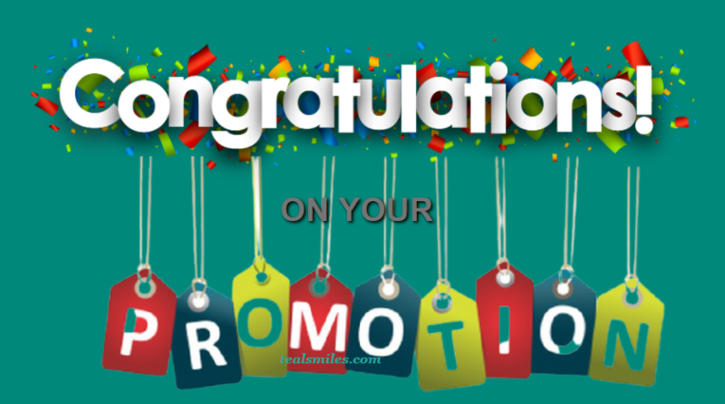 Promotion Congratulatory Wishes And Messages