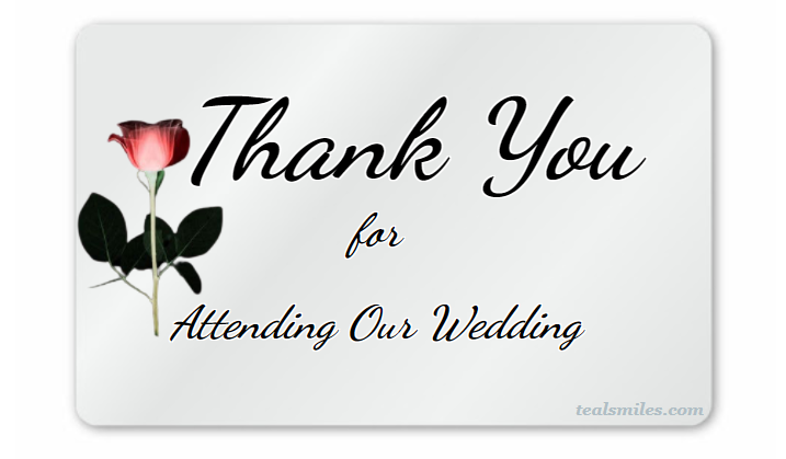 Thank You for Attending Our Wedding Messages
